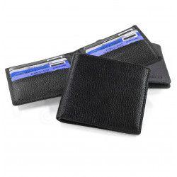Porte cartes et billets cuir Noir Beaubourg