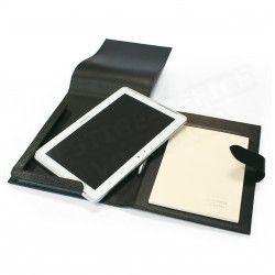 Etui tablette universel A5 cuir Noir Beaubourg