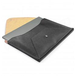 Etui Mac book air cuir Noir Beaubourg