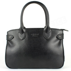 Mini sac Cabas Shopping Paris cuir Noir Beaubourg