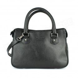 Mini sac Cabas Monaco cuir Noir Beaubourg