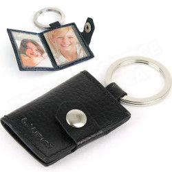 Porte-clés photos cuir Noir Beaubourg