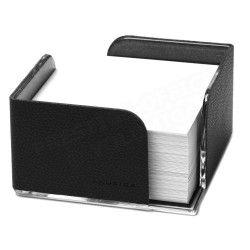 Bloc-note cube cuir Noir Beaubourg