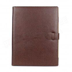 Conférencier portfolio A4 cuir Marron Beaubourg