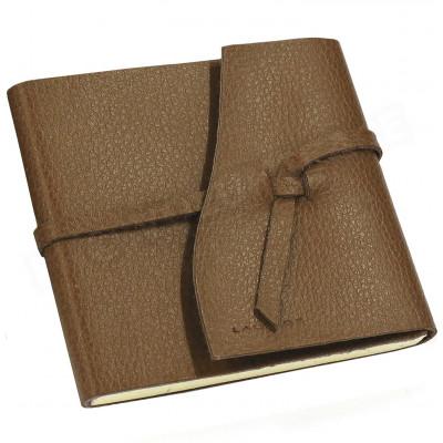 Carnet de voyage 10x10 cuir Marron Beaubourg