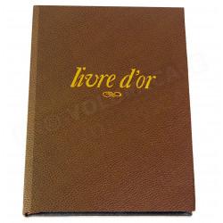 Livre d'Or A5 cuir Marron Beaubourg